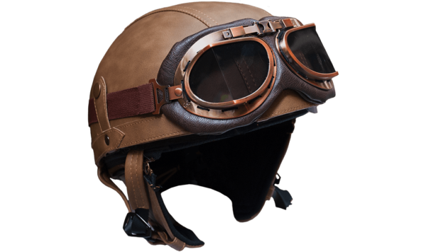 ther Bike Helmet - 1/2 Face - with glasses