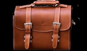 Rayvolt Leather Rear Bag - Brown