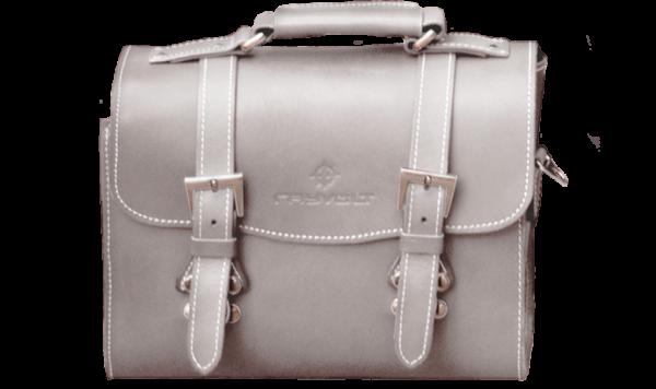 Rayvolt Leather Rear Bag - White